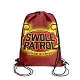 Adjustable Drawstring Backpack Swole-Patrol-with-Mike-Catherwood- Sackpack Bag Sports Pouch