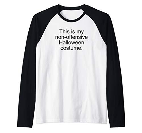 This Is My Non-Offensive Halloween Costume Funny Raglan Baseball Tee