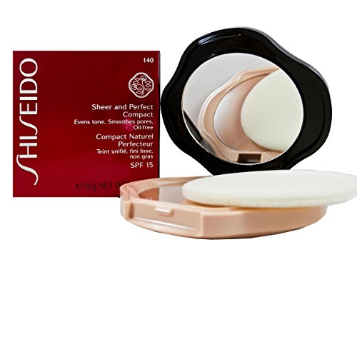Shiseido Sheer and Perfect Compact Foundation SPF15 Foundation for Women, # I40 Natural Fair Ivory, 0.35 Ounce (Shiseido Foundation Sheer)