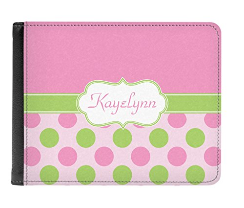 Pink Leather Bi Genuine Dots Wallet Green fold Men's Personalized amp; PIBrPxC