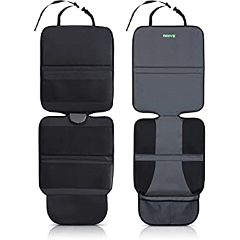 Car Seat Protector (2-Pack) by Drive Auto Products - Ultimate Neoprene Backing is Best Protection for Child & Baby Cars Seats, Dog Mat - Cover Pad Protects Automotive Vehicle Leather, Cloth Upholstery