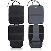 Drive Auto Products Car Seat Protector (2-Pack) by Ultimate Neoprene Backing is Best Protection for Child & Baby Cars Seats, Dog Mat - Cover Pad Protects Automotive Vehicle Leather, Cloth Upholstery