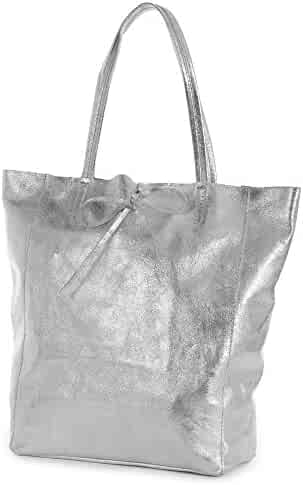 LIATALIA Genuine Italian Soft Leather Leightweight Large Hobo Tote Shopper  Shoulder Handbag - ASTRID 5326402c6ebe8