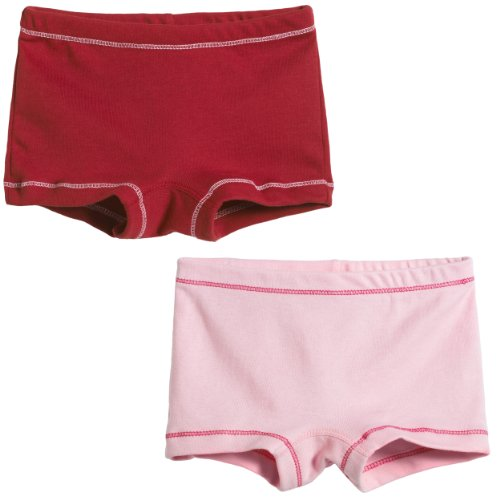 City Threads Girls' 2-Pack BoyShorts Perfect for Sensitive Skin SPD Sensory Friendly Clothing For School Play and Under Dresses Bike and Dance Shorts Perfect for Sensitive Skin SPD Sensory Friendly Clothing For School Play and Under Dresses, Red/Pink-6