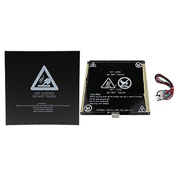MagiDeal 12V MK3 220mm Aluminum Board PCB Heat Bed+Build Surface for Reprap  3D Printer