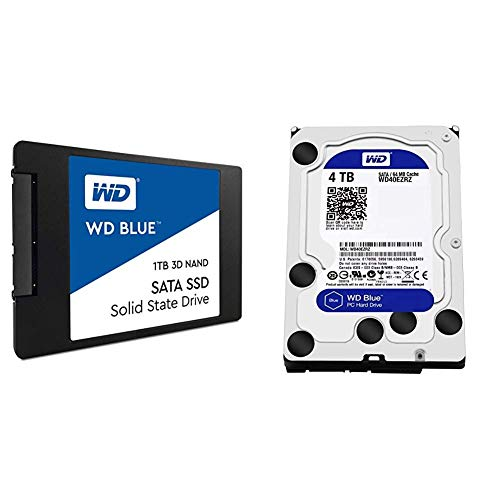 "WD Blue 3D NAND 1TB PC SSD - SATA III 6 Gb/s, 2.5""/7mm with"