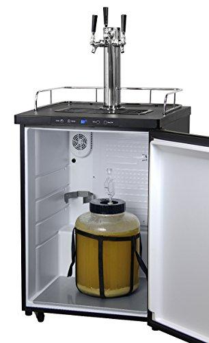 Kegco Full-Size Digital Homebrew Kegerator Triple Faucet Ball Lock Keg Dispenser Black by Kegco (Image #6)