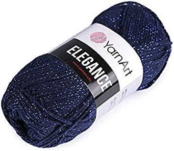 101 Crochet Blanco de Plata de Tejer Hilados de Elegancia Lurex 50g art/ículos de Mercer/ía 1pc