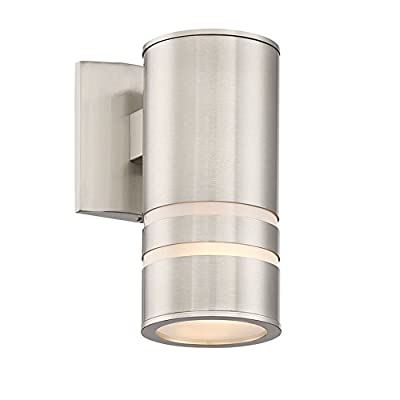 "Revel Rockwell 8.5"" Modern Outdoor Wall Sconce, Matte Black Finish"