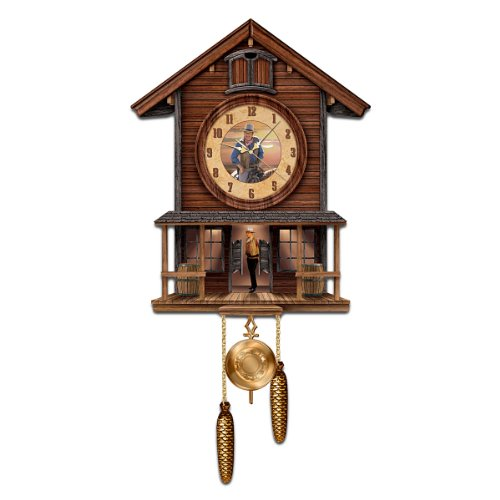 John Wayne: American Icon Collectible Cuckoo Clock by The Bradford Exchange ()