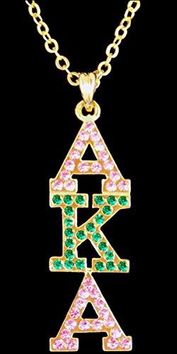 Alpha Kappa Alpha (AKA) Sorority Austrian Gold Crystal Pendant