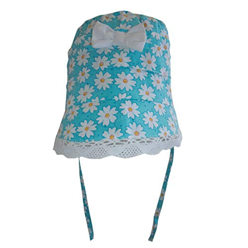 Powell Craft Cappellino Margherite Daisy Print Baby Bonnet 0-12 Mesi