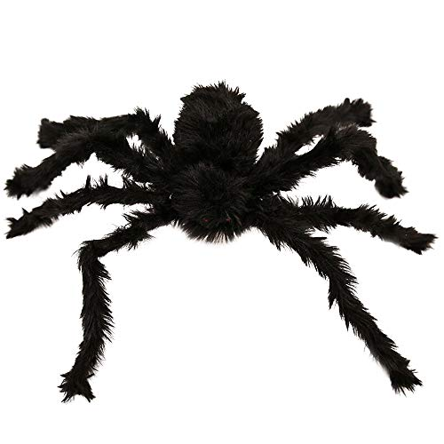 DaySiswong Halloween Outdoor Decorations Hairy Spider, Halloween Realistic Hairy Spiders Set, Valuable Halloween Props Black