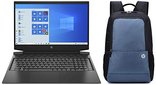 HP Pavilion Gaming 10th Gen Intel Core i5 Processor 16.1-inch FHD Gaming Laptop (8GB/1TB HDD/Windows 10/MS Office/NVIDIA GTX 1650 4GB/Shadow Black), 16-a0021TX and Bag Combo
