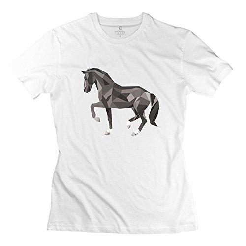 Originality Horse Animal T Shirt Size L White