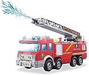 Caminhão Bombeiro Lança Água com Sirene Bate Volta Luz e Som - BBR Toys