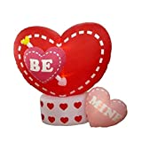 NorthLight 6 ft. Inflatable Animated Be Mine Hearts Lighted Valentines Day Yard Art Decoration
