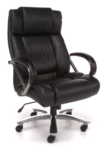 OFM Avenger Series Model 810-LX Big and Tall Executive High Back Chair, Leather, Black - Zen Bonded Leather