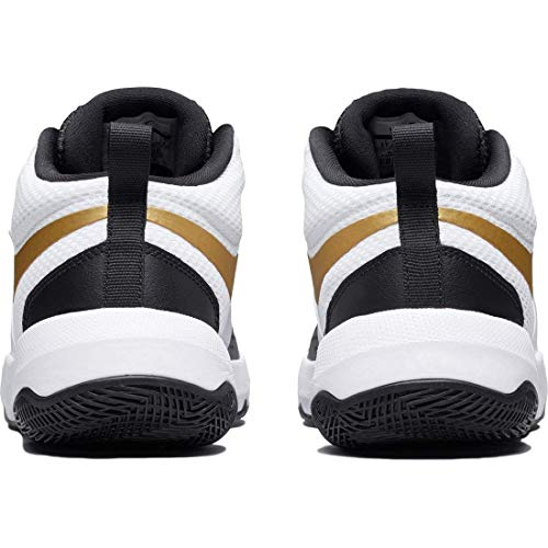 Para Blanco Baloncesto De Nike Gs Negro D Team Hustle Zapatos Dorado 8 Metálico Niñas Oq8Zpw