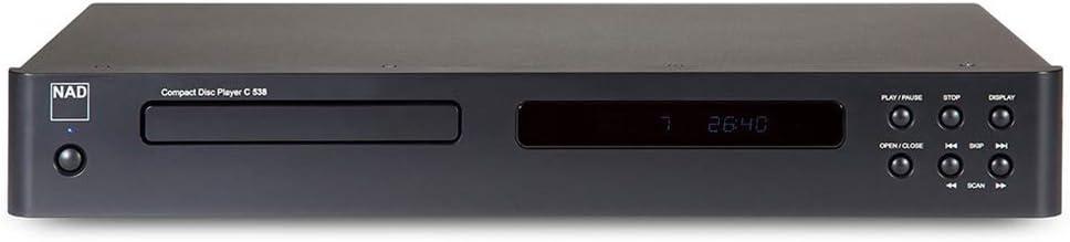 NAD C 558 - Tocadiscos (Tocadiscos de tracción Directa, Manual, Negro, 33,45 RPM, 33 RPM, 68 dB)