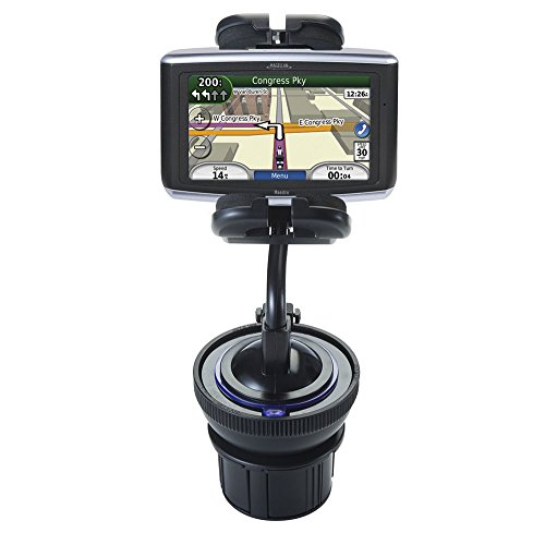 Flexible Magellan Maestro 4040 Car / Truck Mounting System Features Both Cupholder and Flexible Windshield Suction Mounts ()