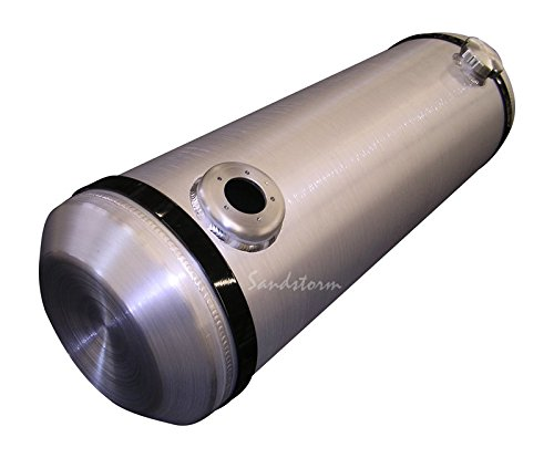 Off Road Fuel Tank - Sandstorm 10x30 End Fill Spun Aluminum Gas Tank - 10 Gallon with Sending Unit Flange - Offroad - Dune Buggy - Trike - Sandrail - boating - Made in the USA!