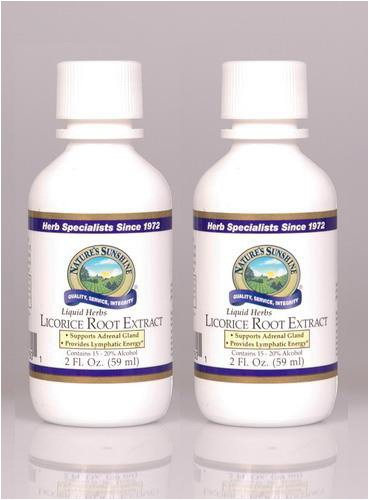 Naturessunshine Licorice Root Extract Glandular System Support Liquid Herb 2 fl.oz (Pack of 2)