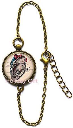 [해외]Anatomical Heart Bangle.Anatomical Heart Bracelet.Anatomical Heart Jewelry.Birthday Gift.HTY-387 / Anatomical Heart Bangle.Anatomical Heart Bracelet.Anatomical Heart Jewelry.Birthday Gift.HTY-387
