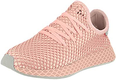 adidas Originals Deerupt Runner Shoe Women's Casual Orange Size: 6.5 US