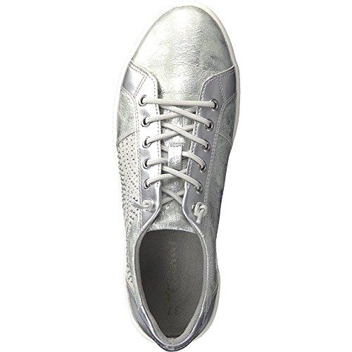 Femme Baskets Tamaris 21 Silver Pour 23710 8wFOqF
