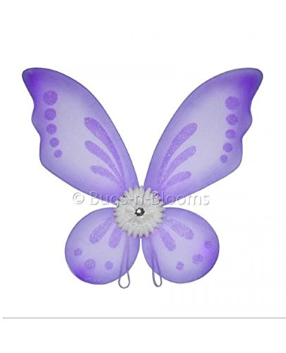[Purple Gerbera Flower Butterfly Wings Girls Fairy Princess Birthday Costume] (Child Flower Fairy Costume)