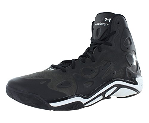 Under Armour Mens Micro G Anatomix Spawn II Basketball Shoes Black/White Size 8.5 M US