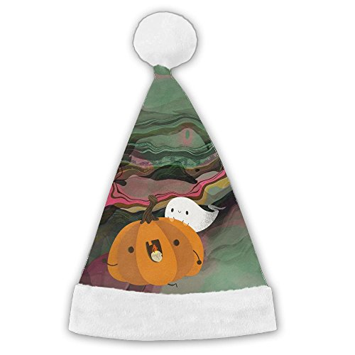 Crazy Halloween Pumpkin And Ghost Felt Christmas Santa Hat Christmas Party Caps For Childrens And Adults Family -