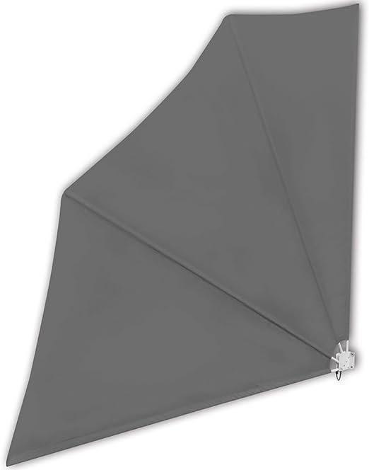 Shengfeng Patio Cortina Plegable antiviento para terraza 140 x 140 cm Grigio. Vela Parasol Paraguas Parasol Cortinas Parasol Parasol Plegable Separador Exterior Jardín: Amazon.es: Jardín