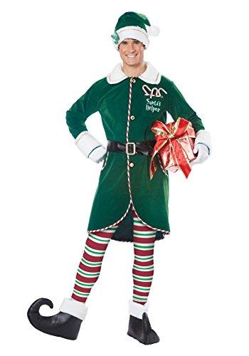 Christmas Adult Costumes (California Costumes Men's Workshop Elf Adult, Green, Large/X-Large)