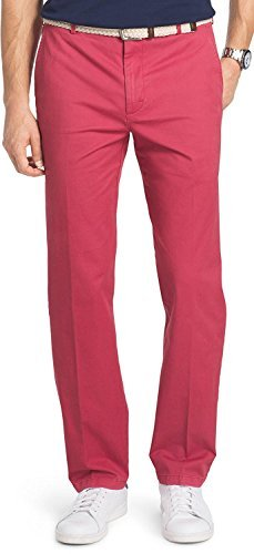 e87e04ffbc5767 Izod Men's Saltwater Straight-Fit Flat-Front Stretch Chino Pants (36W x 34L