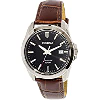 Seiko Men's SGEH49P2 Silver Calf Skin Japanese Quartz Dress Watch
