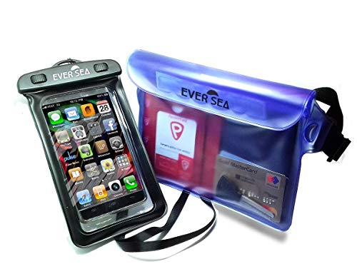 EVER SEA Waterproof Phone case and Pouch - Set of 2 (Best Cell Phone Ever)