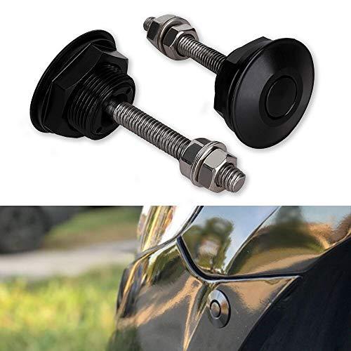 Tutor Auto Push Button Low Profile Hood Pins Lock 2PCS Quick Release Latch Car Lock Clip Kit 1.25