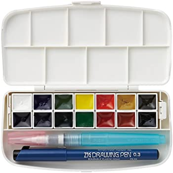 Fils watercolor set 14 color set (japan import) by Kuretake
