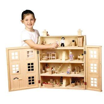 wooden dolls house with furniture: Amazon.co.uk: Toys  | furniture universe uk