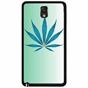 Zheng caseFuzzy Weed Leaf on Blue Background TPU RUBBER SILICONE Phone Case Back Cover Samsung Galaxy Note III 3 N9002