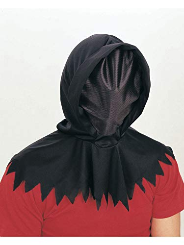 Rubie's Deluxe Hidden Face Hood Costume, Black, One Size -