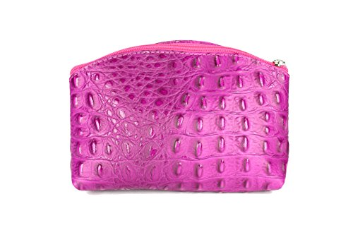 "'Belli® ""Bellini Kleine piel Neceser Make Up estuche–Varios colores a elegir–18x 13x 5cm (B X H X T) rosa - rosa"