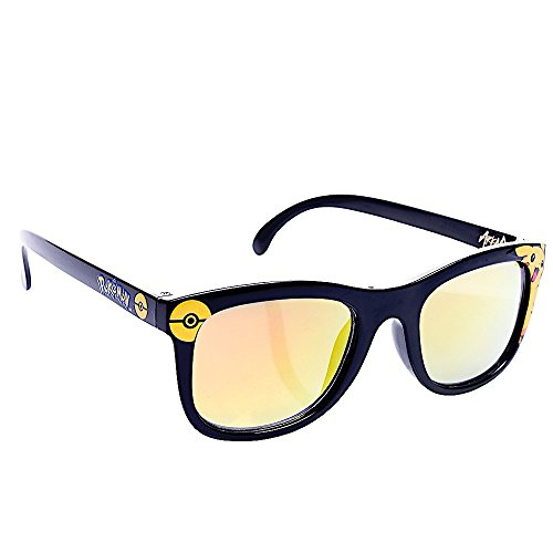 Sunstaches Pikachu All Black Frame Yellow Lens Arkaid Sun-Staches Party Supplies, Black, - Pokemon Sunglasses