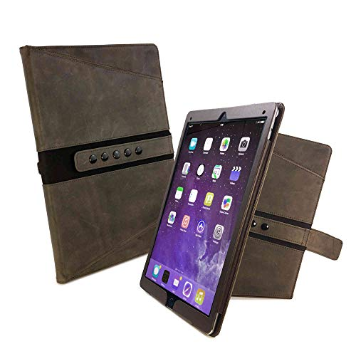 Tuff-luv Personalised Tri-Axis Western Leather Case Cover for Apple iPad Pro 10.5