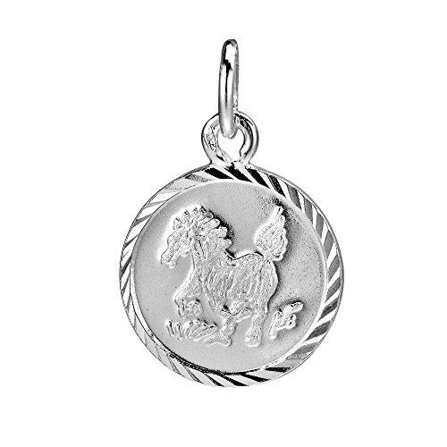 - AeraVida Horse Chinese Zodiac .925 Sterling Silver Pendant