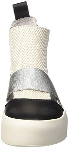 Bikkembergs Kate 853, Zapatillas Altas para Mujer, Negro (Silver/Pink), 40 EU