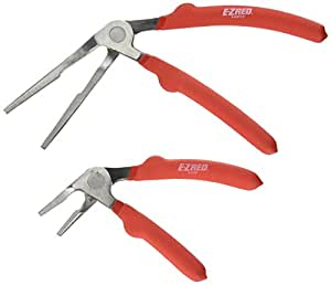 "E-Z Red KWP2  Kiwi Plier Two Piece Set- Includes  6"" Short Nose and 8"" Long Nose Kiwi  Pliers"