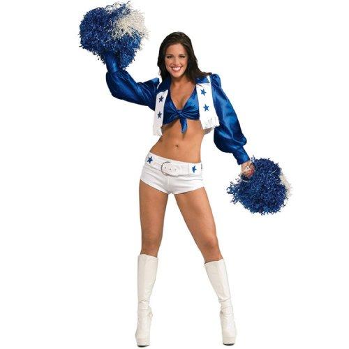 Secret Wishes Women's Dallas Cowboy Cheerleader Costume, White,